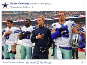Dallas Cowboys Facebook Marketing Post Example — Bbg, Inc  | A